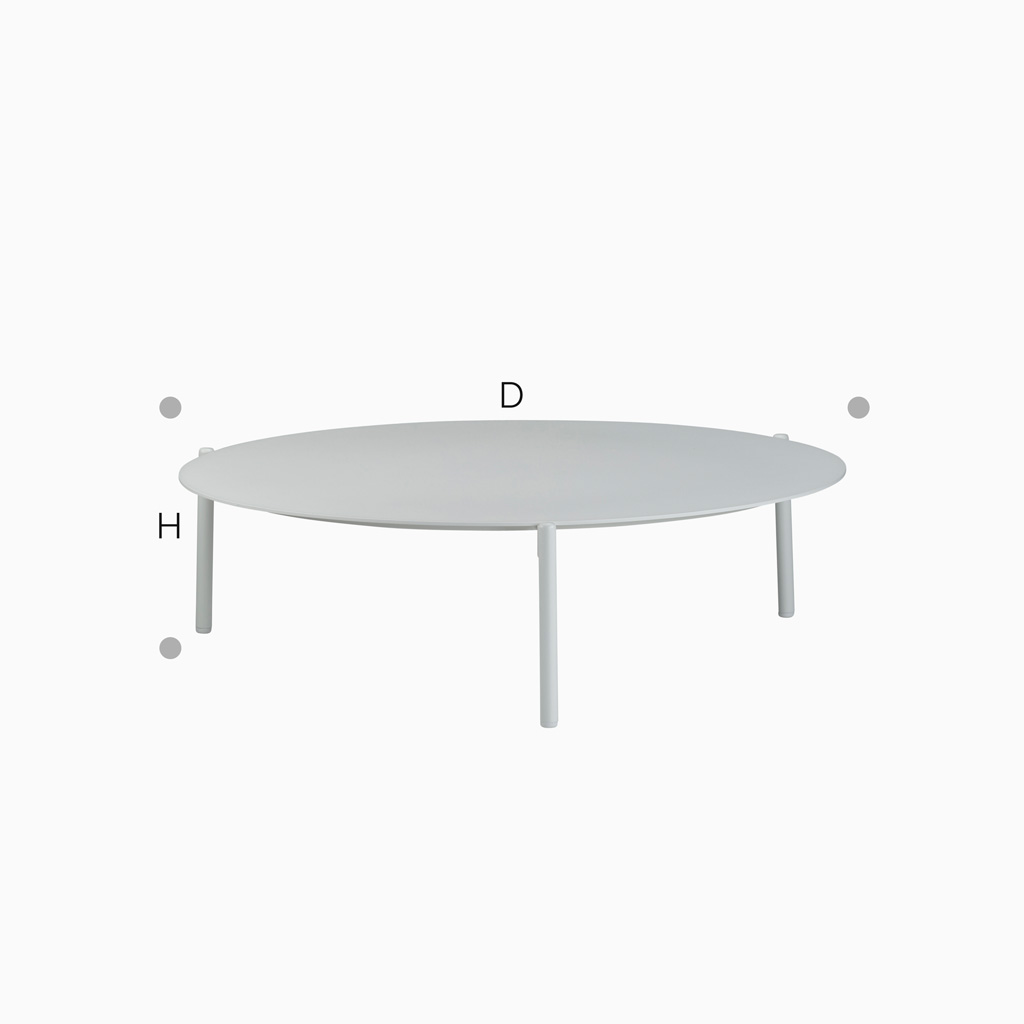 Coffeetable Flair - L - Weiß