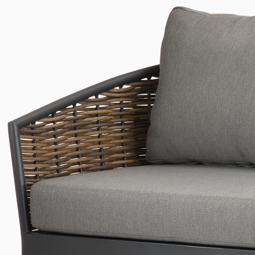 3-Sitzer Sofa Kapstadt - PU Geflecht - Natur