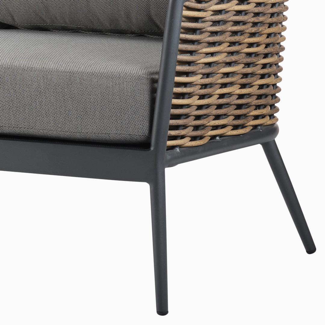 2-Sitzer Sofa Kapstadt - PU Geflecht - Natur